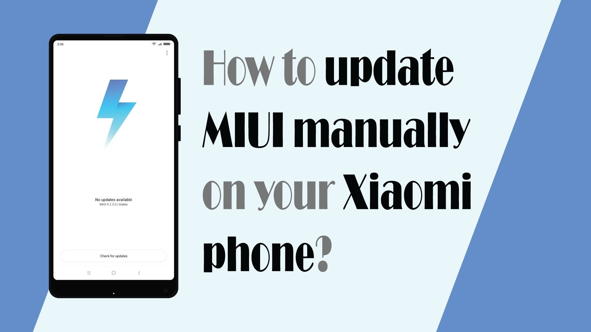 Manually update MIUI