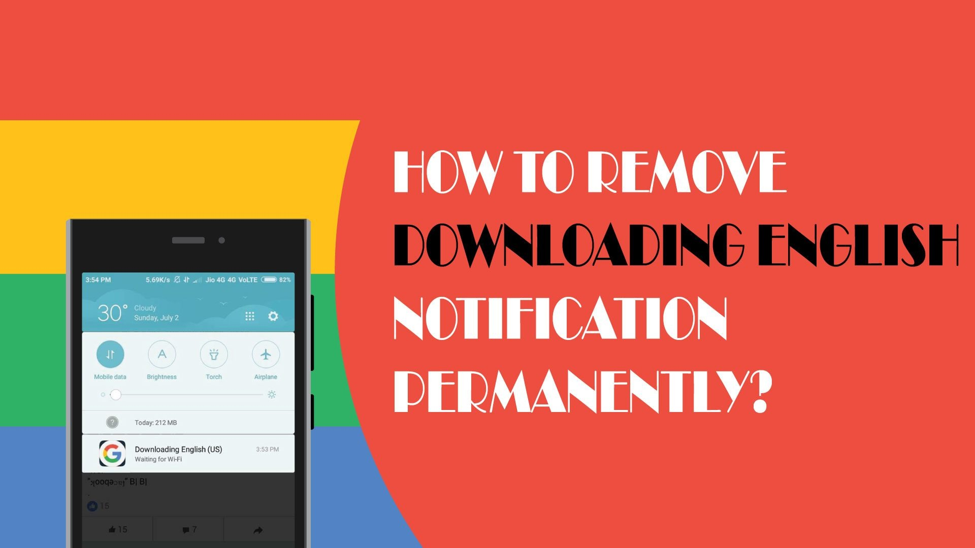 Remove downloading English notification