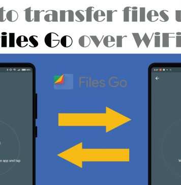 Files transfer via Files Go