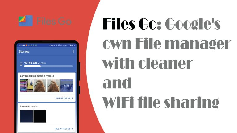 Files Go: Google's own file manager with cleaner and WiFi file sharing
