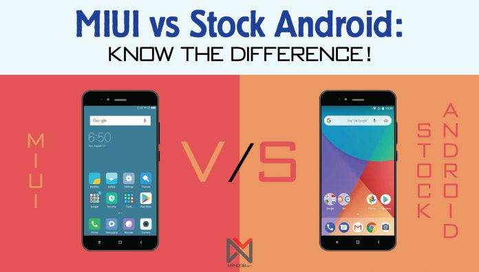 Comparison MIUI and Stock Android