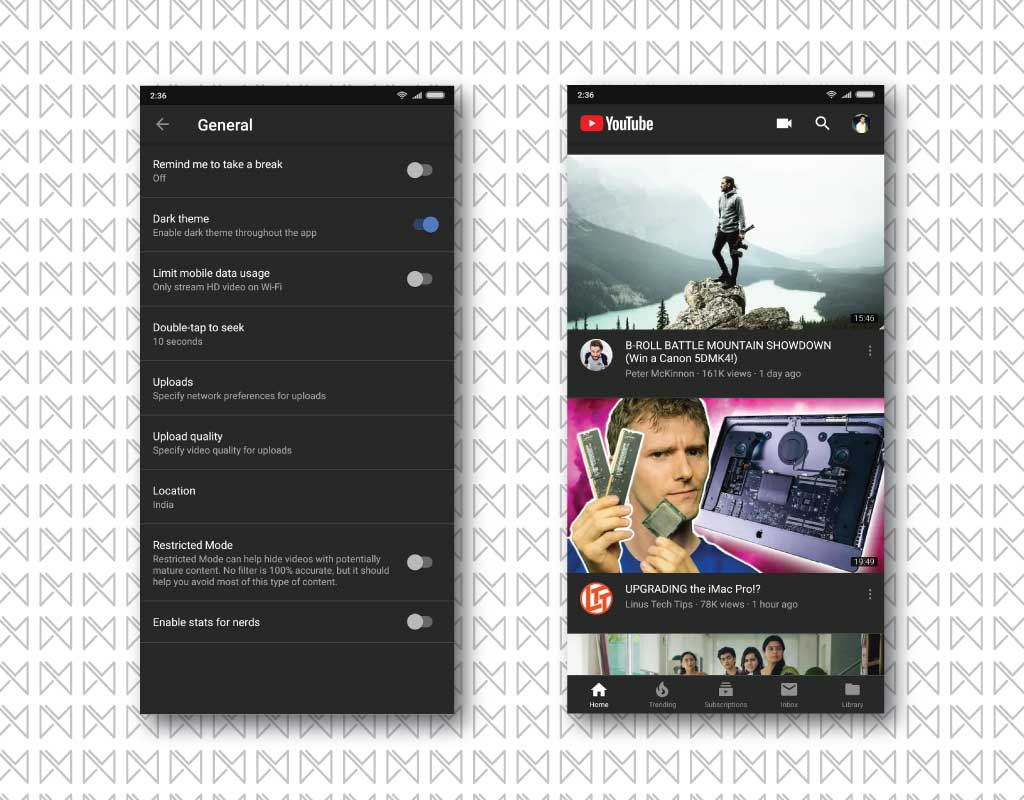 darkmode youtube app 4