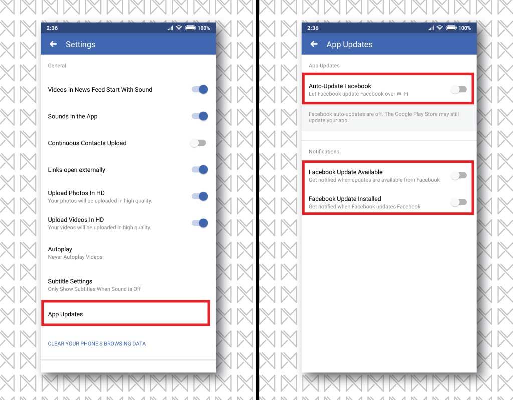 autoupdate facebook 2