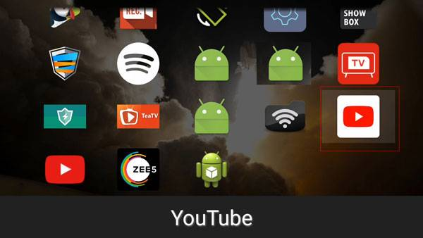 opening youtube on sideload launcher