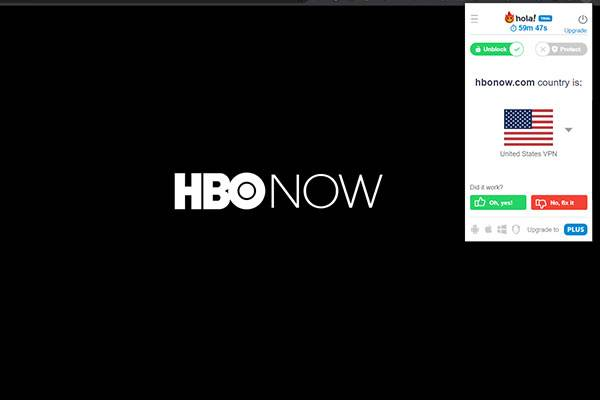 HBO now opens up properly