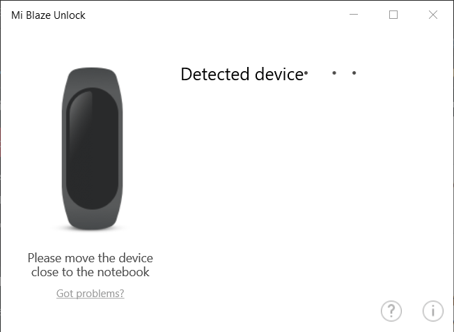 Mi band unlock detecting