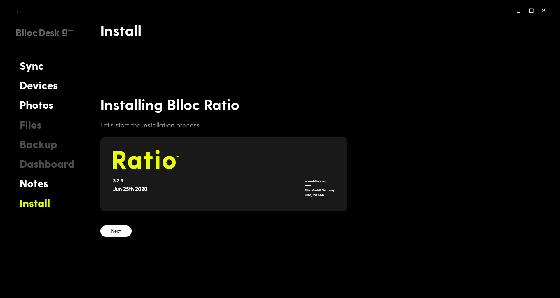 Install Ratio Launcher Via Blloc Desk App