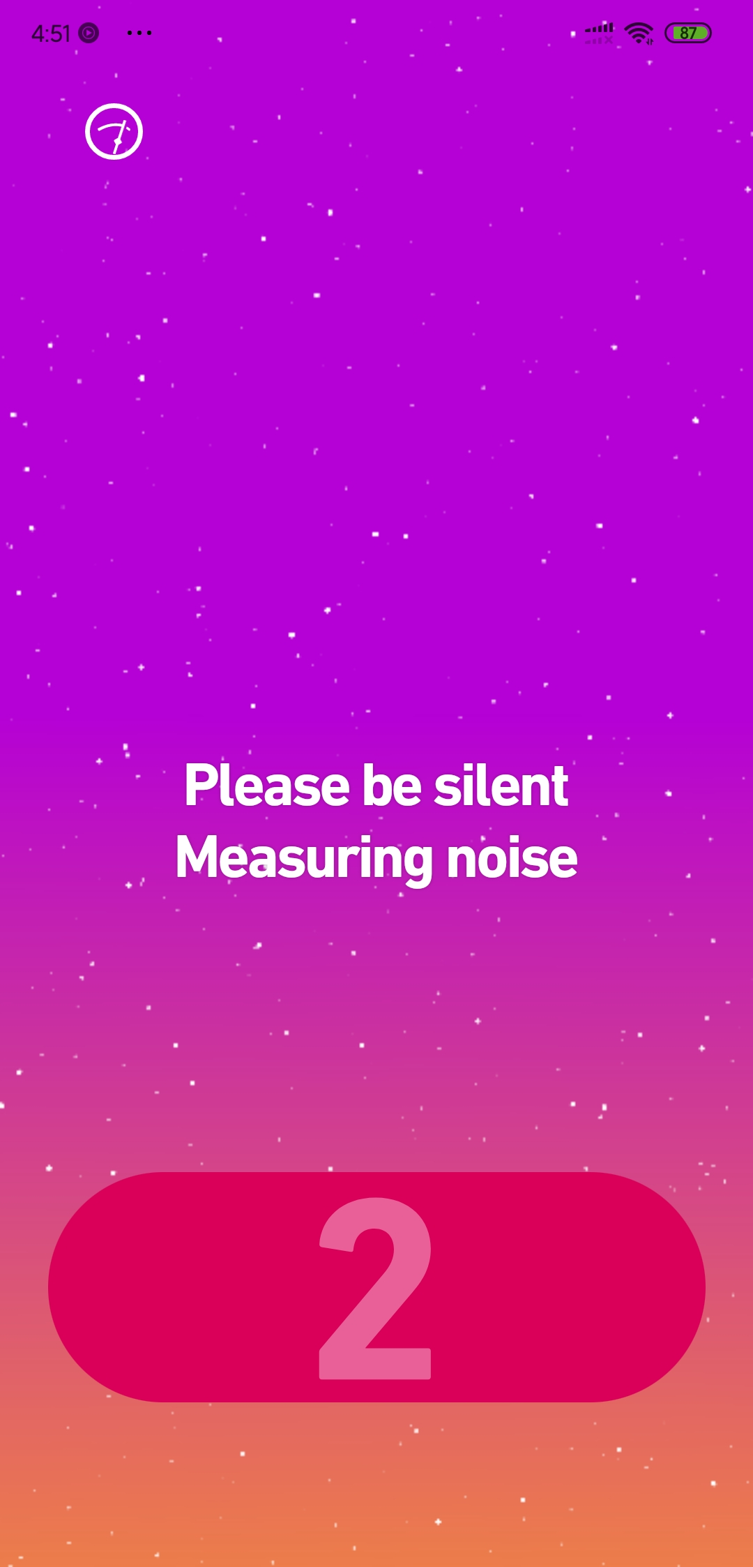 measuring silence in dolby on