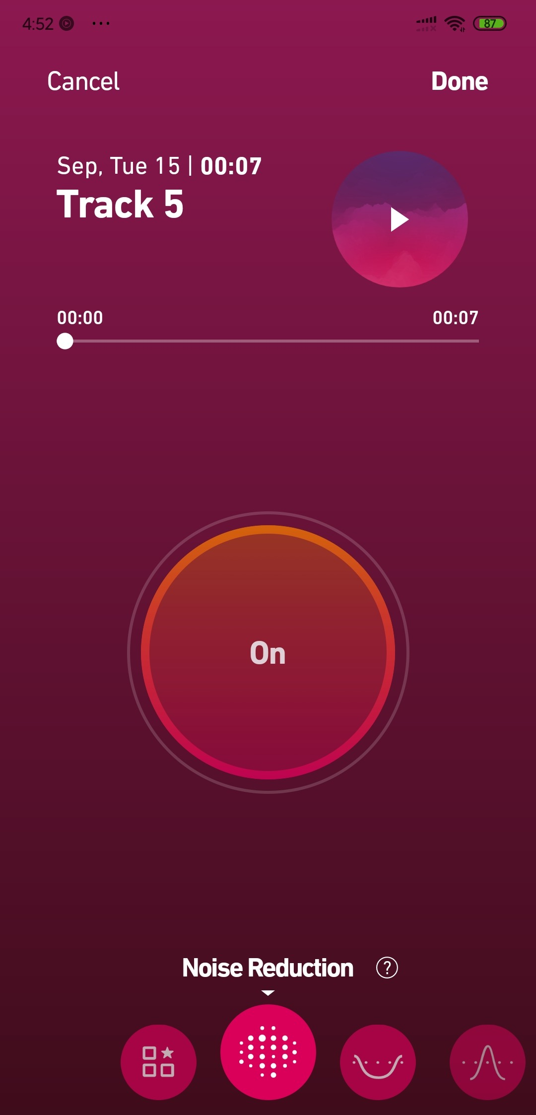 noise reduction in dolby on Remove Background Noise From Video in Android
