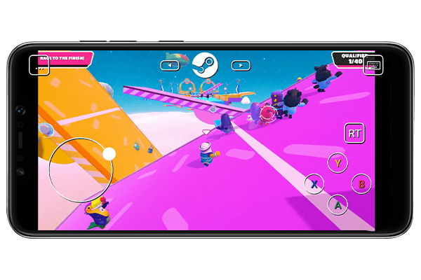 how to play fall guys on phone legally using steam link app working