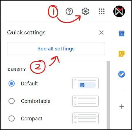 gmail filter open gmail settings mrnoob
