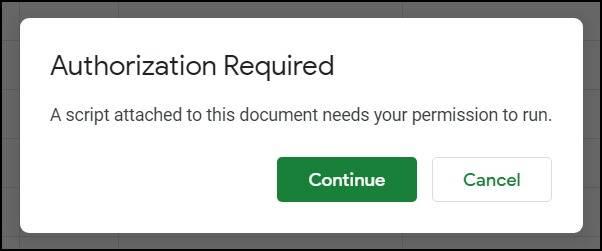 gmail unsubscriber script authorization mrnoob