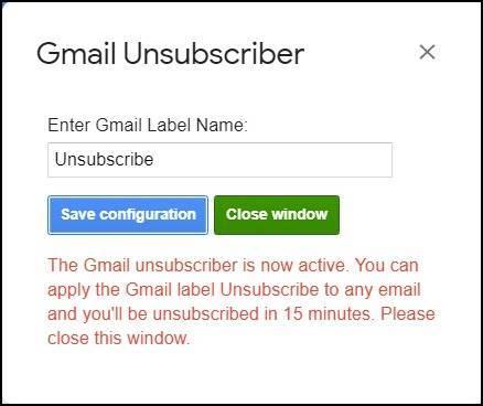 gmail unsubscriber script save config mrnoob