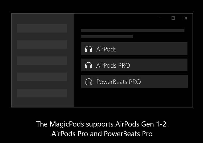 magicpods supported airpods mrnoob