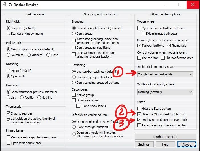 windows taskbar customization Taskbar Tweaker window mrnoob
