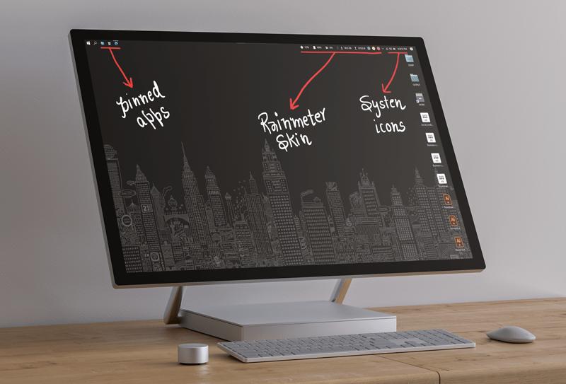 windows taskbar customization mokcup mrnoob