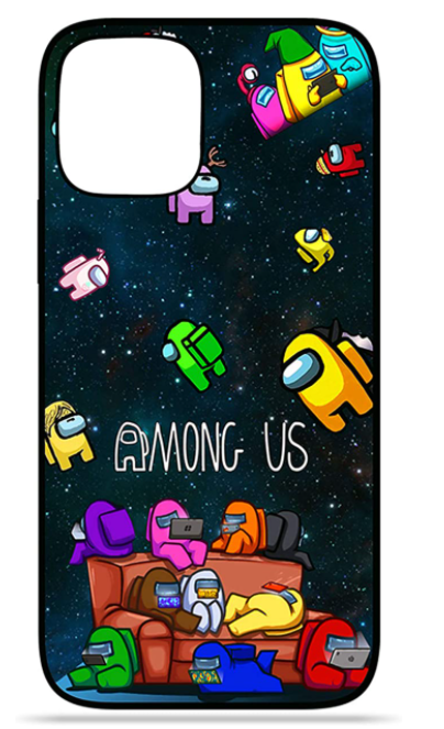 among us themed iPhone case mrnoob