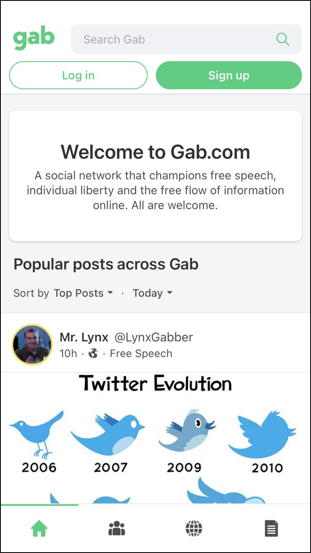 gab social network parler mrnoob