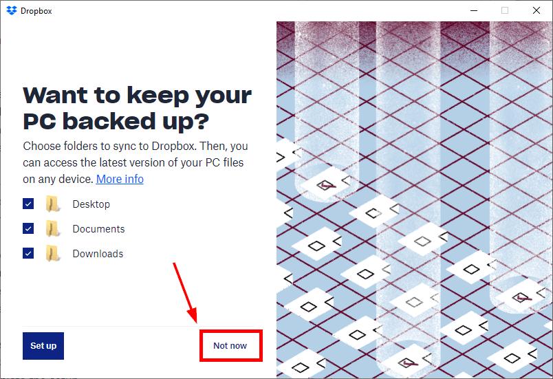 local folder backup add dropbox file explorer mrnoob