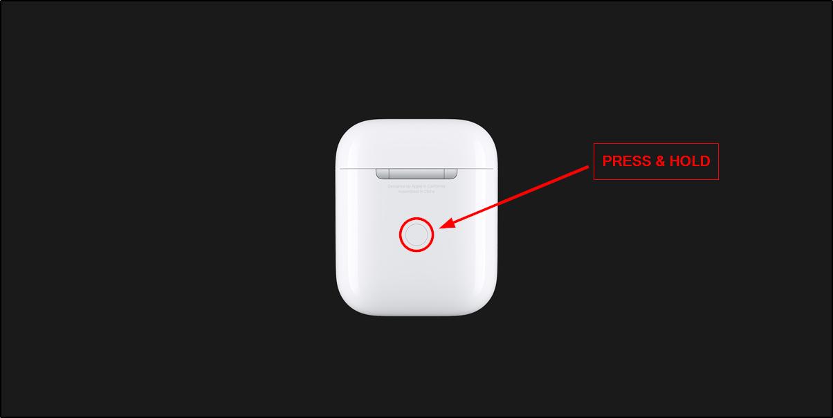 pair airpods button mrnoob
