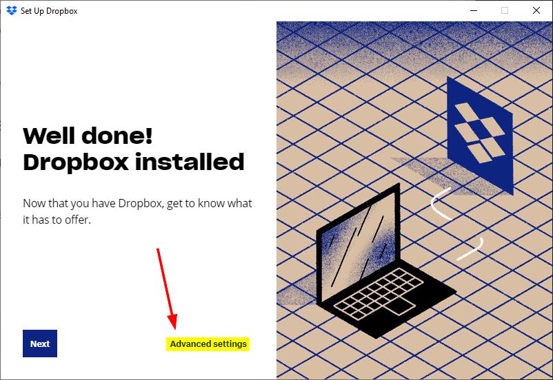 setup add dropbox file explorer mrnoob