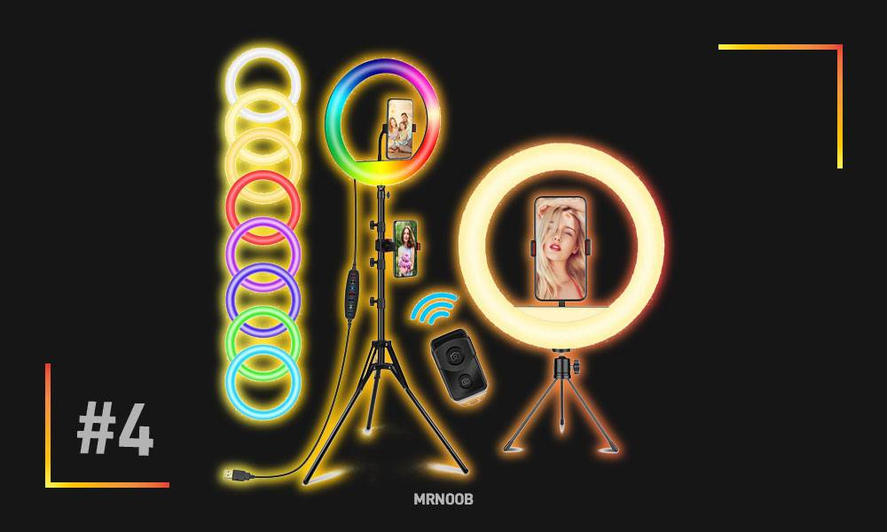 12 RGB Selfie Ring Light with Tripod Stand