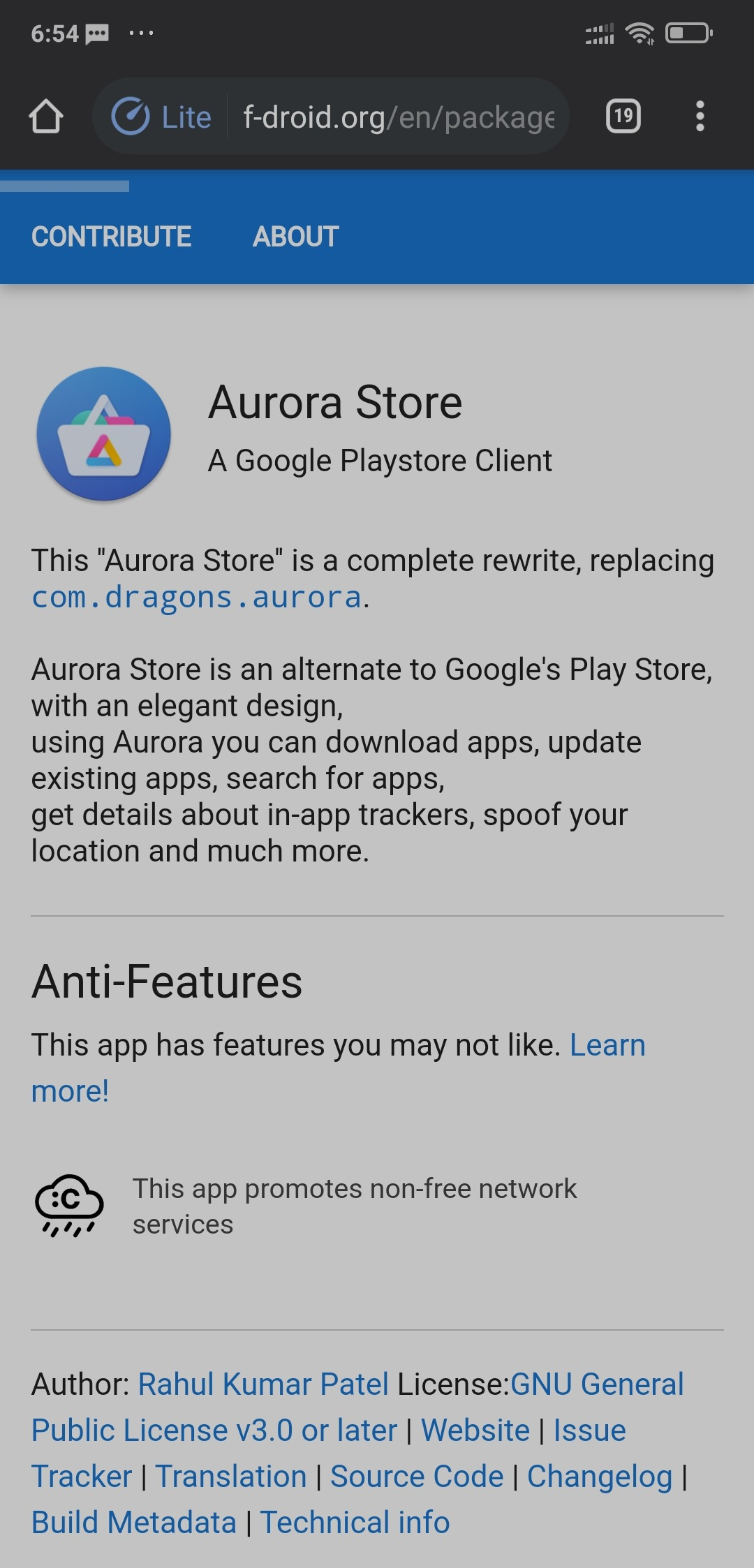 download aurora store apk from f droid
