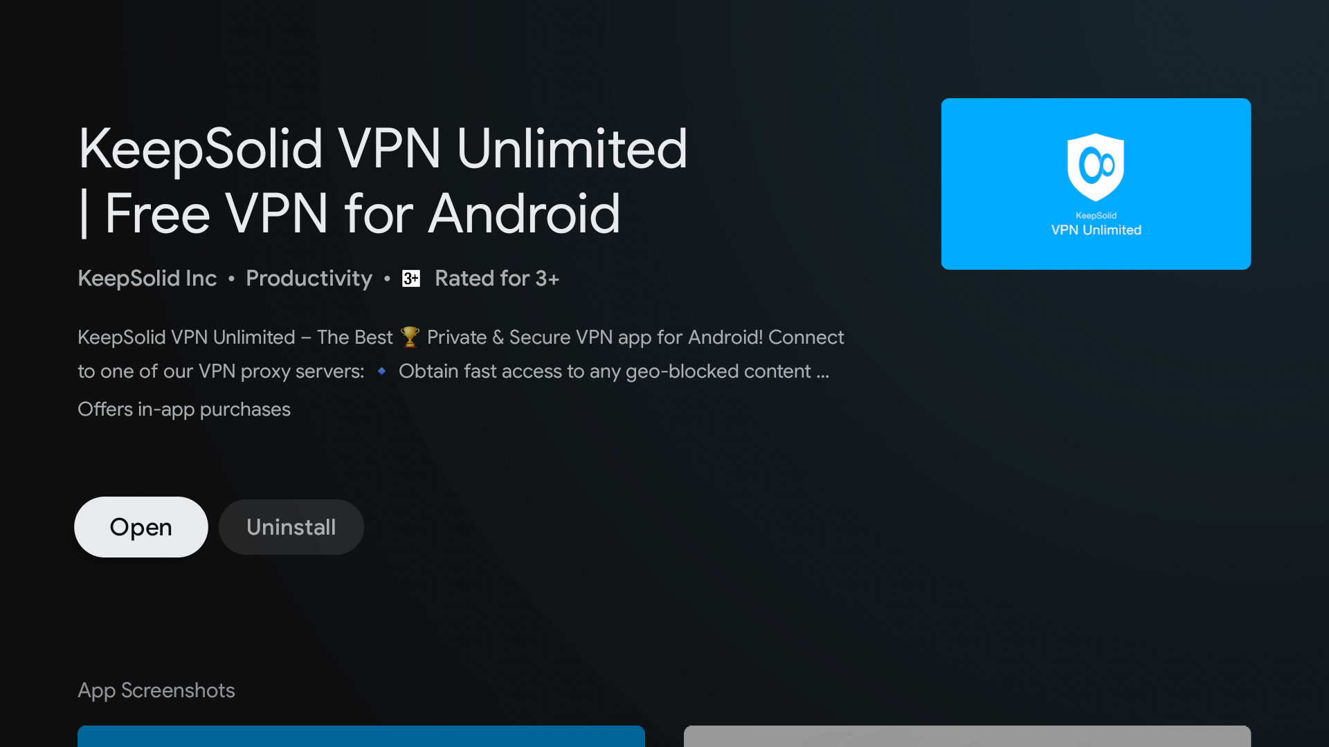 download keepsolid vpn on android tv