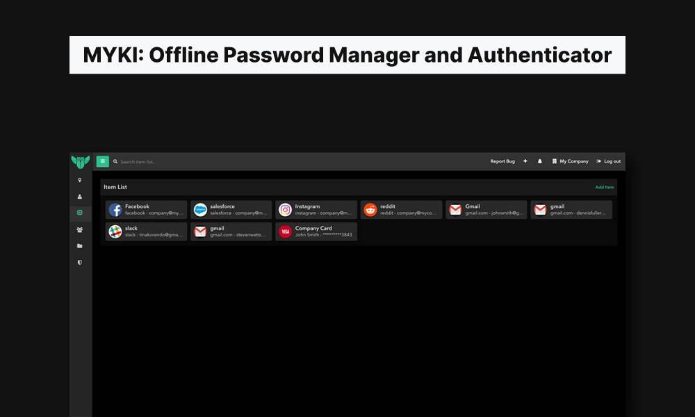 myki offine password manager best lastpass alternatives mrnoob