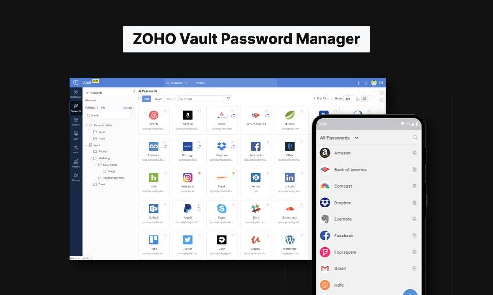 zoho vault free password manager mrnoob