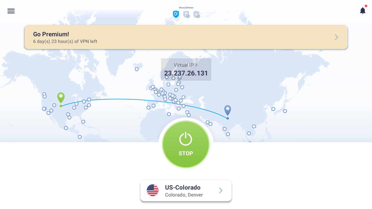 connect vpn to US server