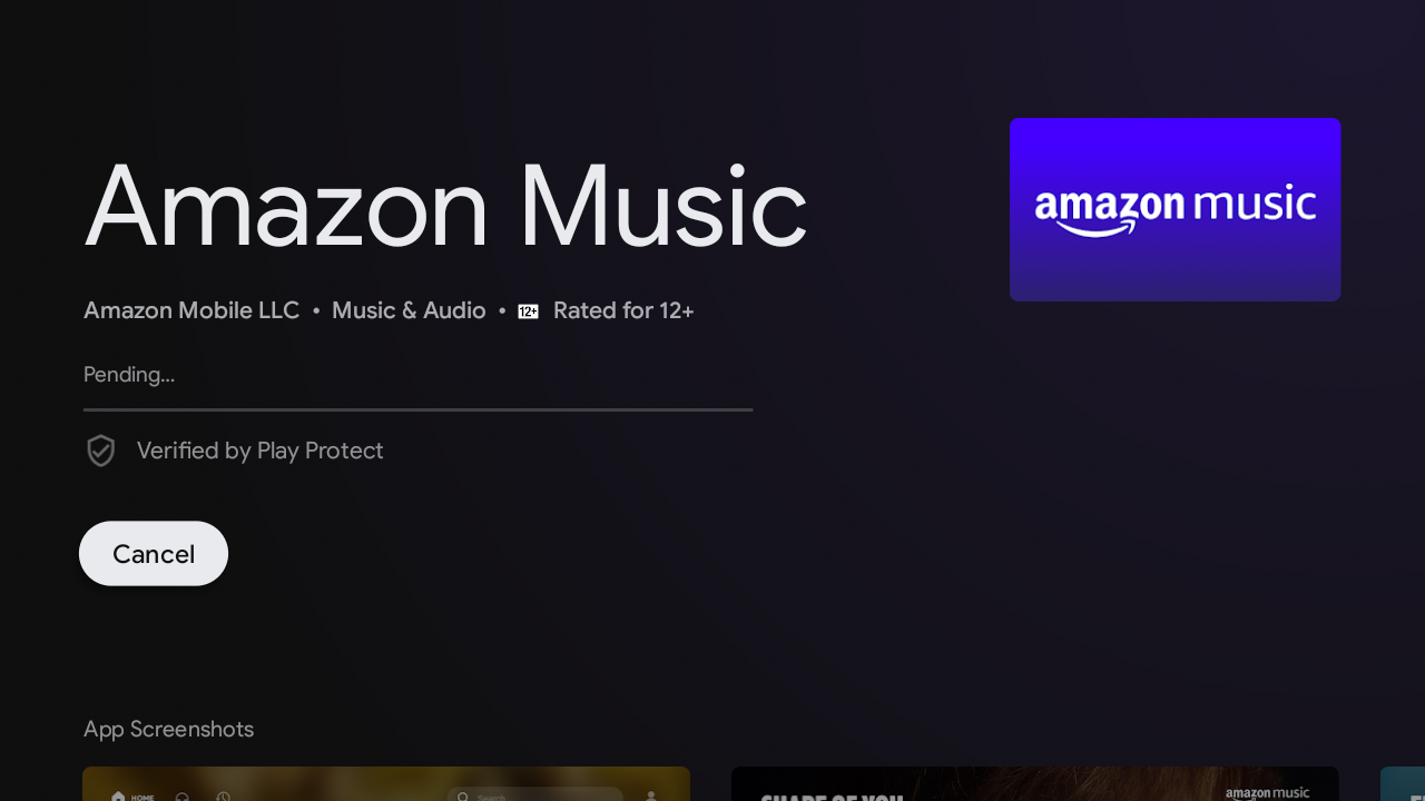 select install on amazon music play store