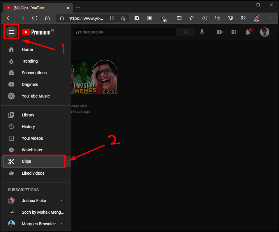 youtube clip delete website mrnoob