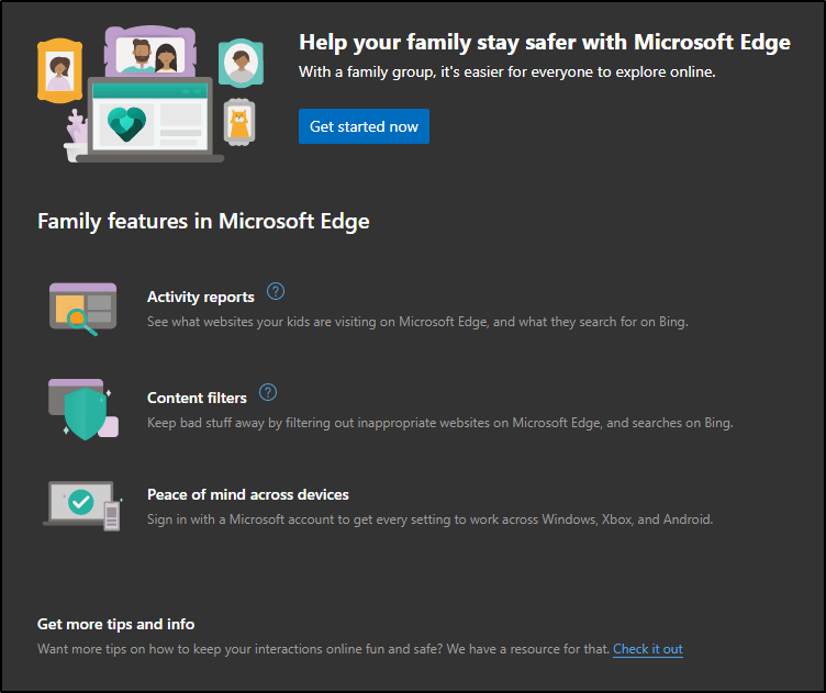 family safety feature microsoft edge mrnoob