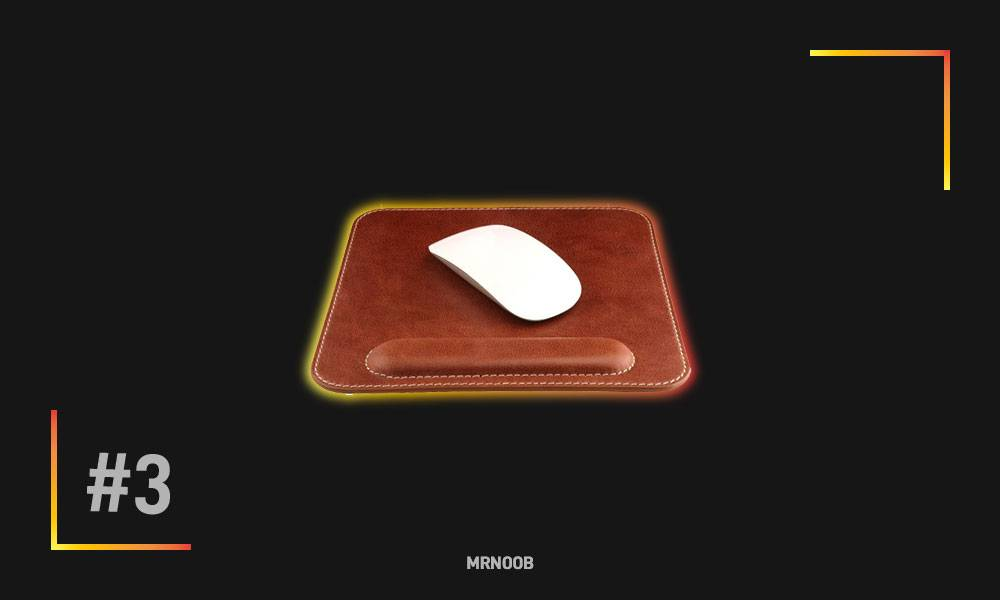londo genuine leather mouse pad mrnoob