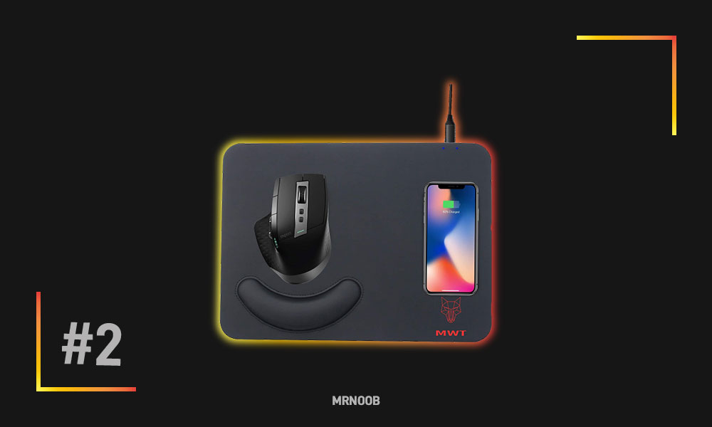 mwt leather mouse pad qi wireless charger mrnoob