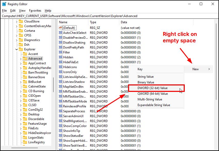 create dword 32bit string mrnoob