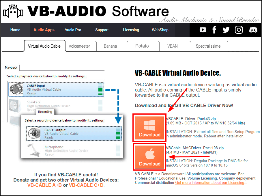 download vb audio cable mrnoob Play Music Directly from Youtube on Clubhouse