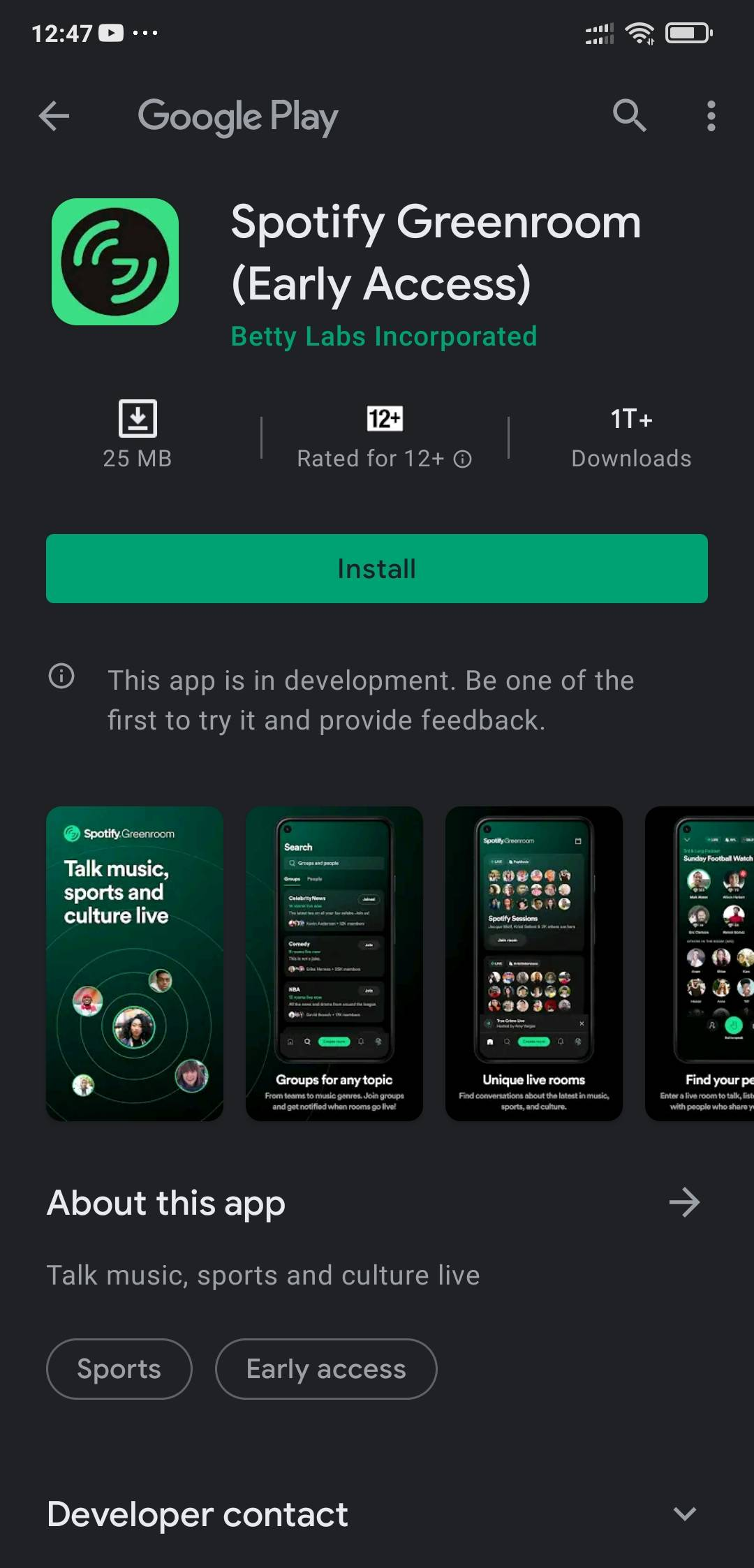 install the app from play store