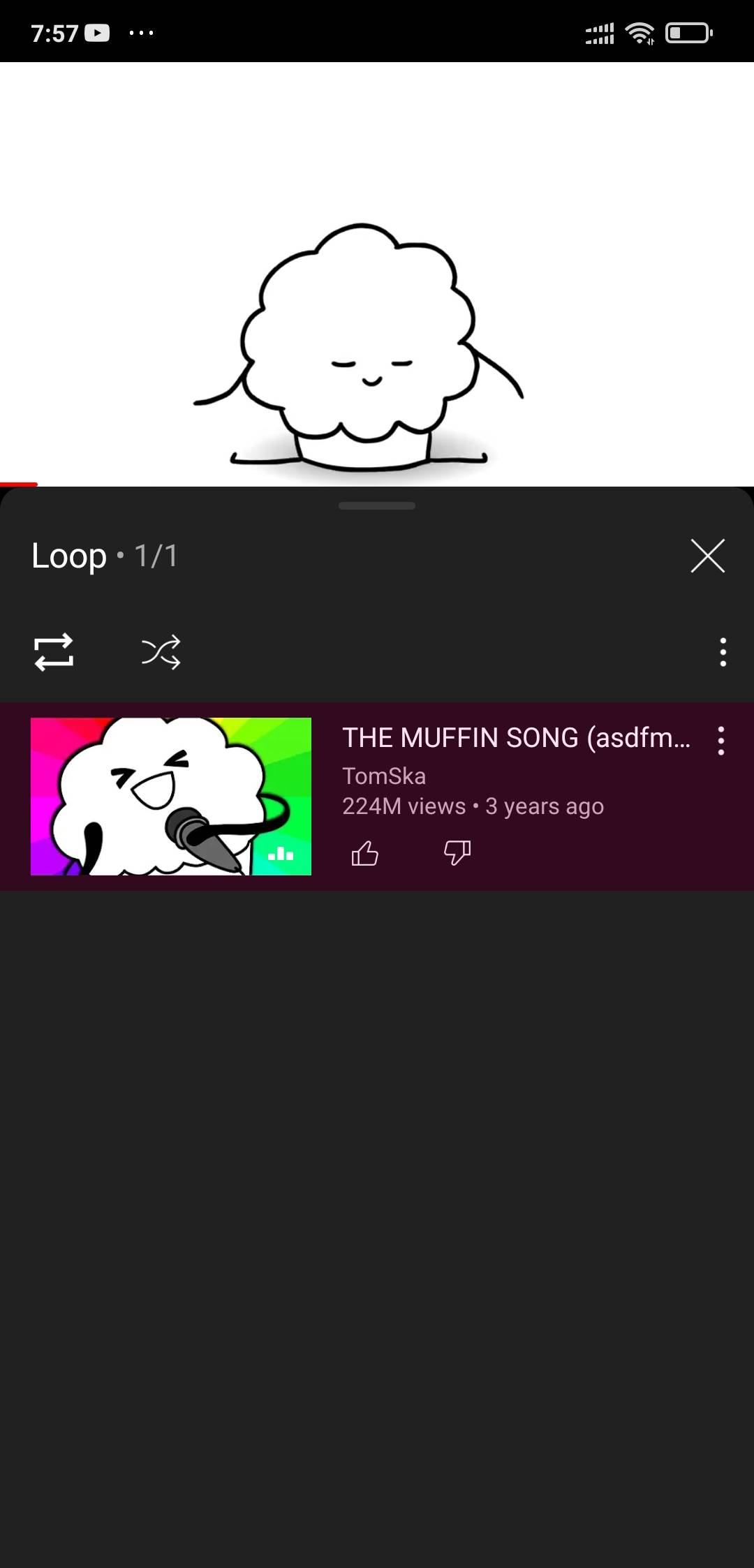 create a playlist and hit loop