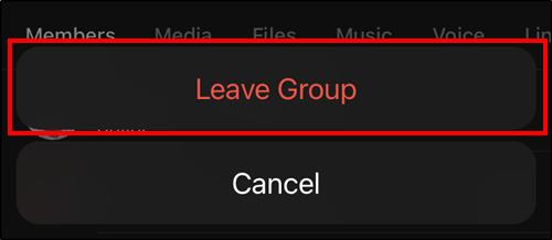 leave group popup telegram ios mrnoob