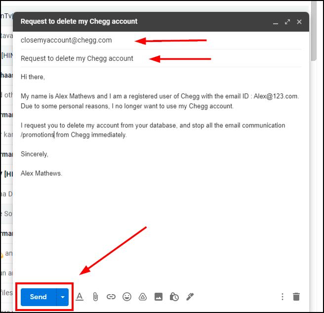 chegg delete request email mrnoob