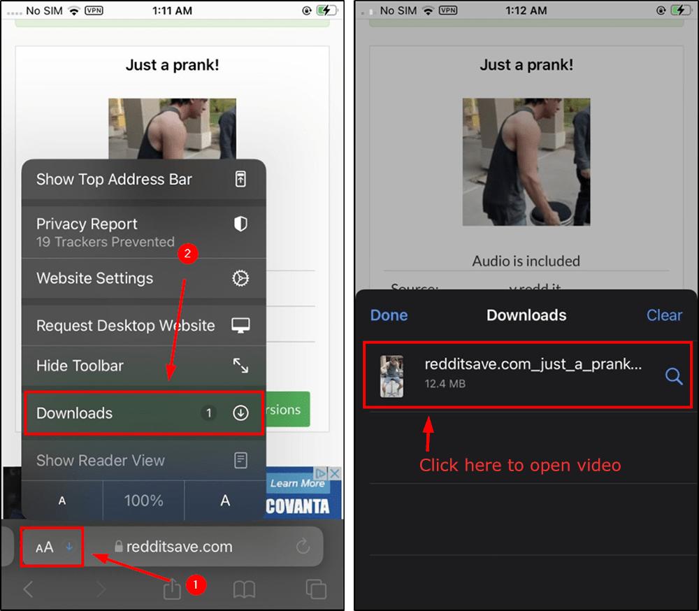 downloaded reddit video ios mrnoob