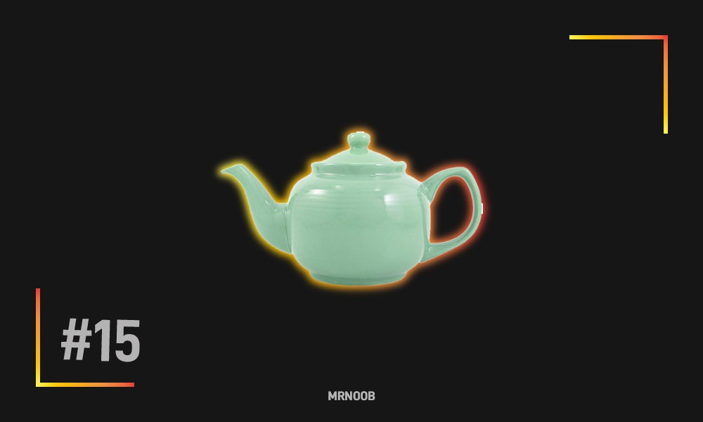 green ceramic teapot mrnoob